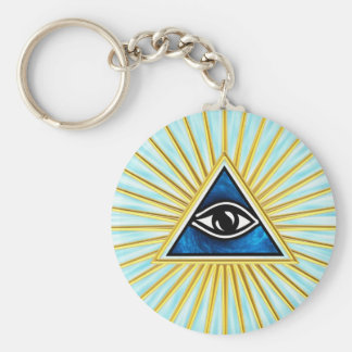 Allsehendes eye of God, pyramid, freemason Key Ring