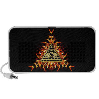Allsehendes eye of God, pyramid, planning Travelling Speakers