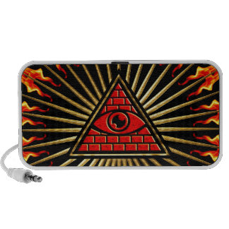 Allsehendes eye of God, pyramid, planning Travelling Speaker
