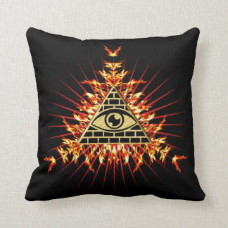 Allsehendes eye of God, pyramid, planning Throw Pillow
