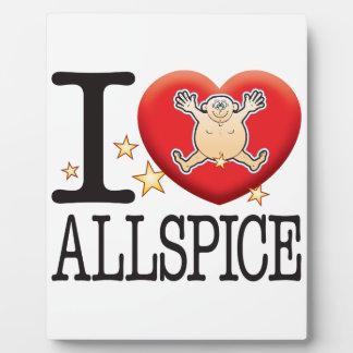 Allspice Love Man Plaque