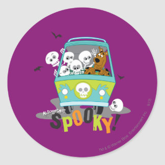 Alltogether Spooky Classic Round Sticker