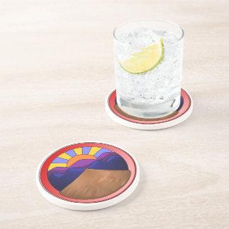 Alluvial Fan Logo Beverage Coasters