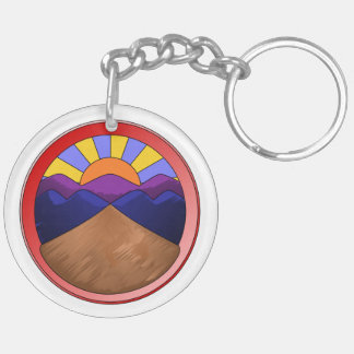 Alluvial Fan Logo Double-Sided Round Acrylic Key Ring