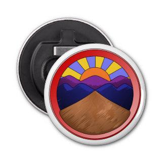 Alluvial Fan Logo Button Bottle Opener