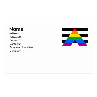 ALLY FLAG ORIGINAL BUSINESS CARD TEMPLATE