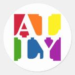 Ally Pop Round White Sticker