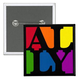 Ally Pop Square Black Button