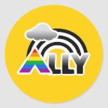 ALLY RAINBOW -.png Round Stickers
