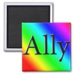 Ally Refrigerator Magnet