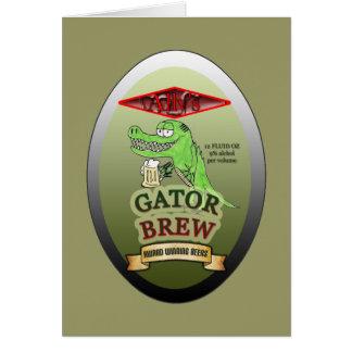 Ally's Gator Brew Greeting Card