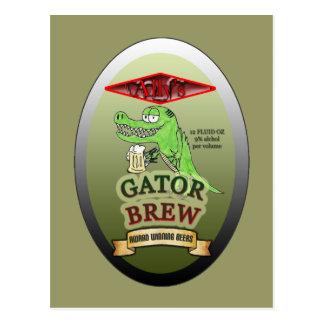 Ally's Gator Brew Postcard