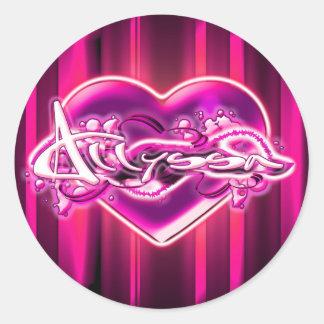 Allyssa Round Sticker