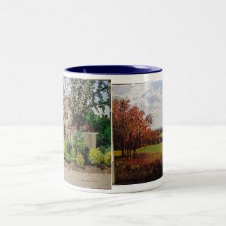 Alma House & 7thHoleEagleCrestGolfCo... Two-Tone Coffee Mug