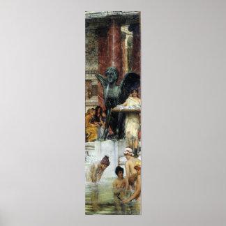 Alma-Tadema - A bathroom (An ancient tradition) Poster
