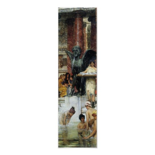 Alma-Tadema - A bathroom (An ancient tradition) Poster