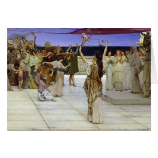 Alma-Tadema | A Dedication to Bacchus Card