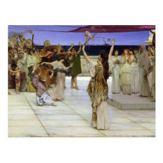 Alma-Tadema | A Dedication to Bacchus Postcard