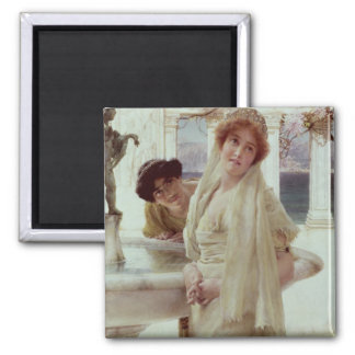 Alma-Tadema | A Difference of Opinion Square Magnet