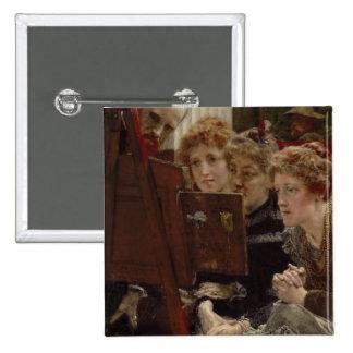 Alma-Tadema | A Family Group, 1896 15 Cm Square Badge
