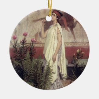 Alma-Tadema | A Greek Woman, 1869 Round Ceramic Decoration