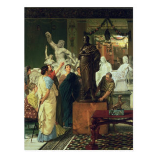 Alma-Tadema | Dealer in Statues Postcard
