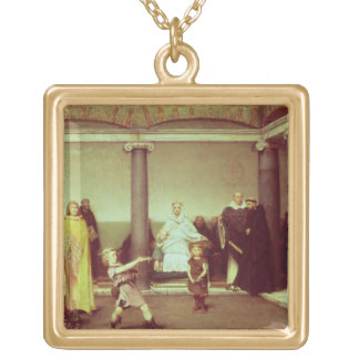 Alma-Tadema | Education of Children of Clothilde Gold Plated Necklace
