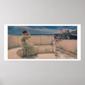 Alma-Tadema | Expectations, 1885 Poster