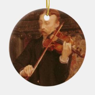 Alma-Tadema   Maurice Sons playing the Violin Round Ceramic Decoration