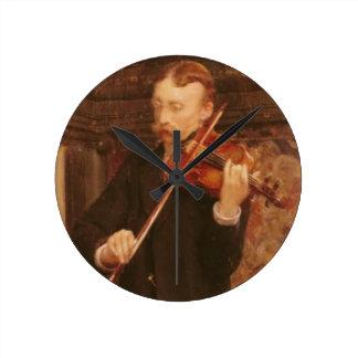 Alma-Tadema | Maurice Sons playing the Violin Round Clock