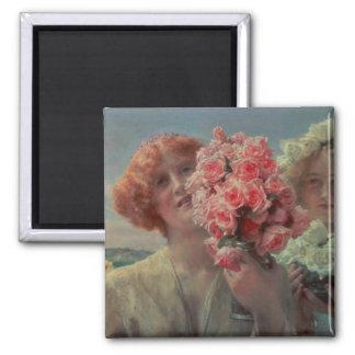 Alma-Tadema | Summer Offering, 1911 Square Magnet