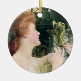 Alma-Tadema   The Golden Hour, 1908 Round Ceramic Decoration