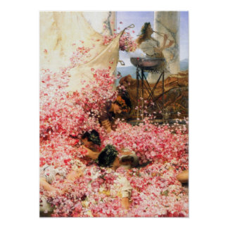 Alma-Tadema - The roses of Heliogabalus detail Poster