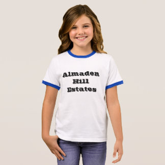 Almaden Hill Estates, san Jose neighborhood bold Ringer T-Shirt