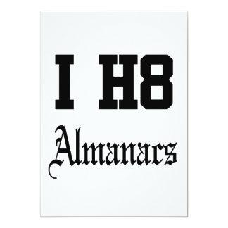 almanacs 13 cm x 18 cm invitation card