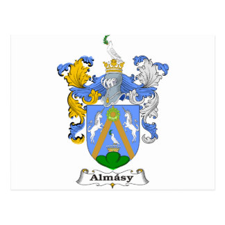 Almasy 2 Family Hungarian Coat of Arms Postcard