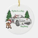 ALMC-Santa's Sleigh-White Christmas Tree Ornament