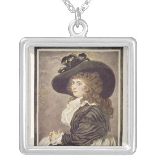 Almeria, engraved and pub. by John Raphael Silver Plated Necklace
