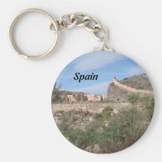 Almeria Spain Basic Round Button Key Ring