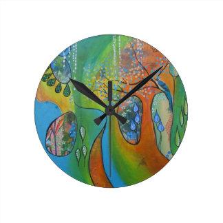 "Almeta design 8"" diameter wall clock"