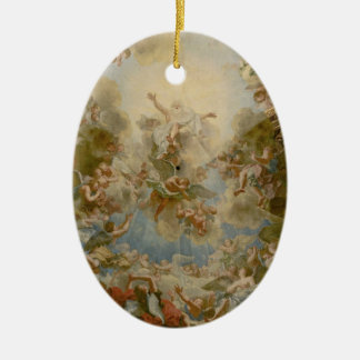 Almighty God the Father - Palace of Versailles Ceramic Oval Decoration