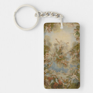 Almighty God the Father - Palace of Versailles Double-Sided Rectangular Acrylic Key Ring