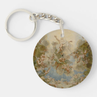 Almighty God the Father - Palace of Versailles Double-Sided Round Acrylic Key Ring