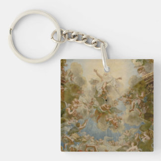 Almighty God the Father - Palace of Versailles Double-Sided Square Acrylic Key Ring