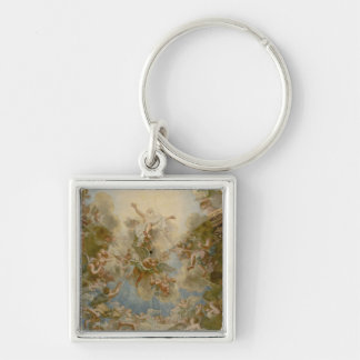 Almighty God the Father - Palace of Versailles Silver-Colored Square Key Ring