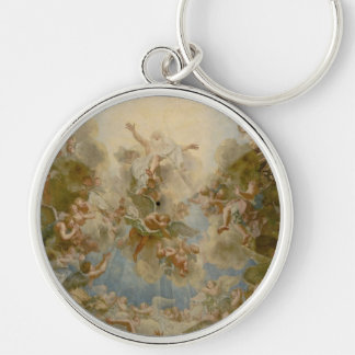 Almighty God the Father - Palace of Versailles Silver-Colored Round Key Ring
