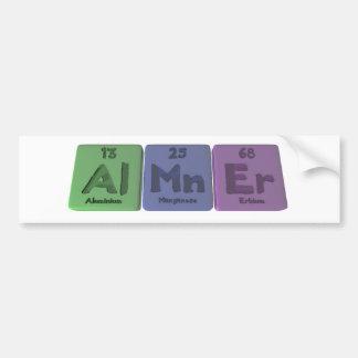 Almner-Al-Mn-Er-Aluminium-Manganese-Erbium Car Bumper Sticker