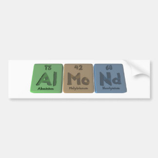 Almond-Al-Mo-Nd-Aluminium-Molybdenum-Neodymium Car Bumper Sticker