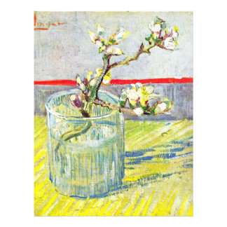 Almond Blossom Branches By Vincent Van Gogh Custom Flyer