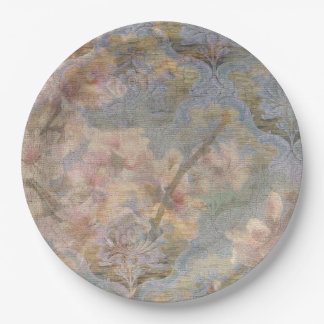 Almond Blossom Tapestry Paper Plates 9 Inch Paper Plate